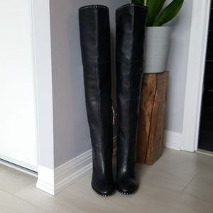 Sigerson Morrison Thigh-high Black Leather Boots